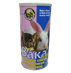 Вака Люкс кормовая смесь для кроликов и шиншилл 800г